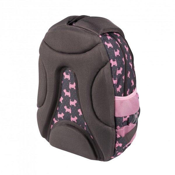 ZESTAW 3 el. Plecak szkolny młodzieżowy ST.RIGHT w psiaki, DOGGIES BP6 (25626SET3CZ)