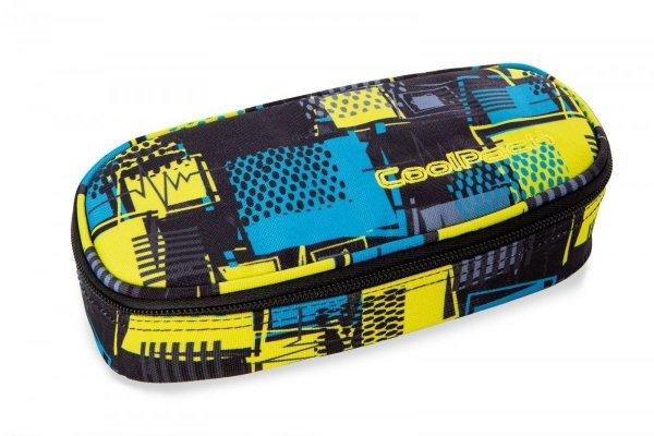 Piórnik CoolPack CAMPUS w niebiesko zółtą kratę, SQUARES (97260)