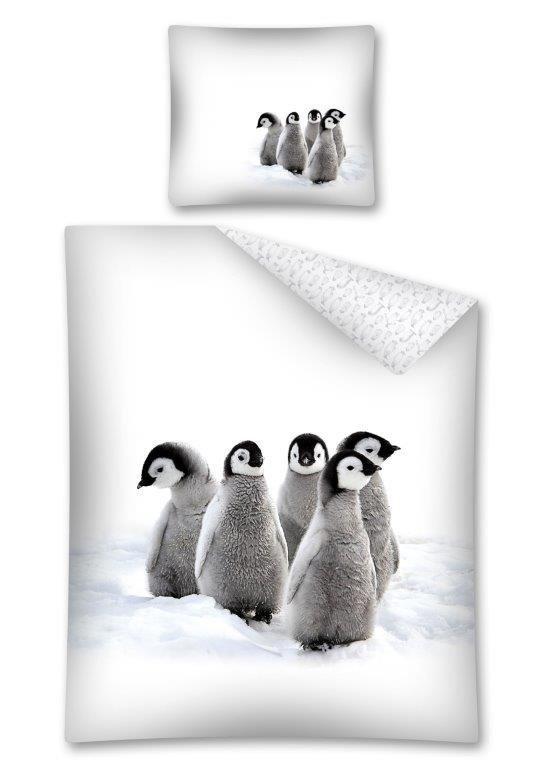 Komplet pościeli pościel 140 x 200 cm z Pingwinami (2443A)