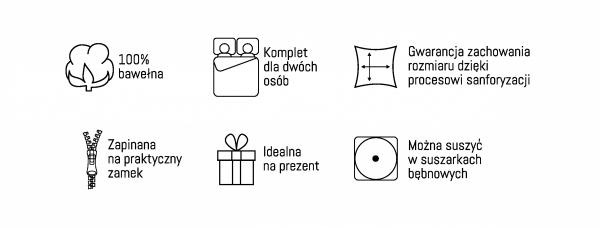 Pościel bawełniana HOLLAND COLLECTION 220 x 200 cm komplet pościeli (2973A)