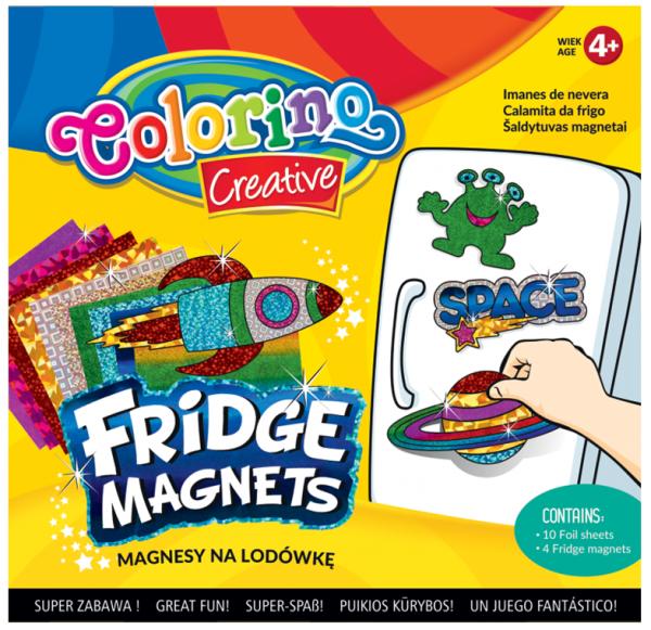 Magnesy na lodówkę COLORINO CREATIVE wzór KOSMOS (91411PTR)