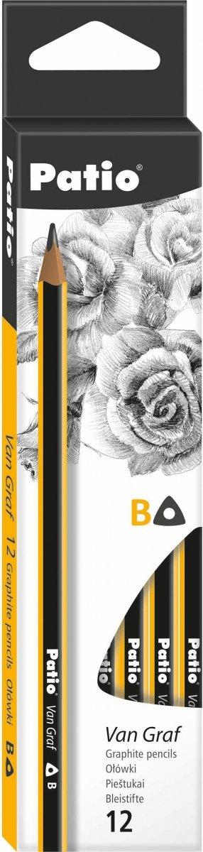 Ołówek techniczny trójkątny VanGraf B PATIO (844530PTR)