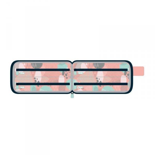 Multipiórnik Milan z 4 piórnikami z wyposażeniem SILVER różowy (08872SL5P)