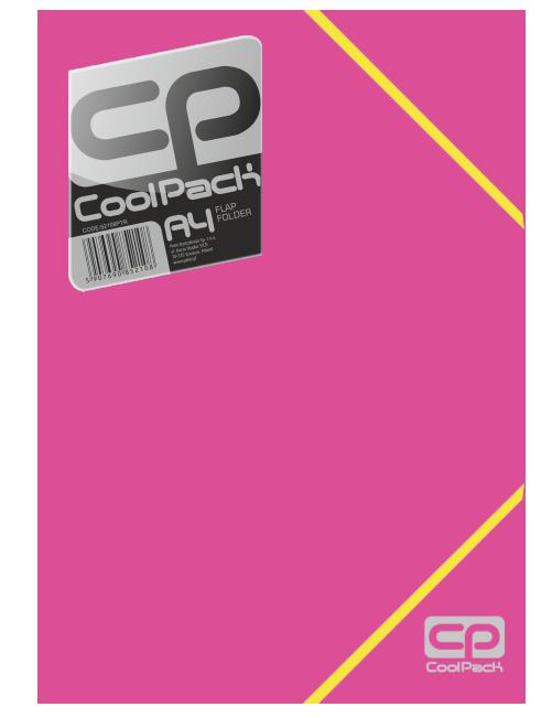Teczka na dokumenty A4 CoolPack RÓŻOWA NEON (52146)