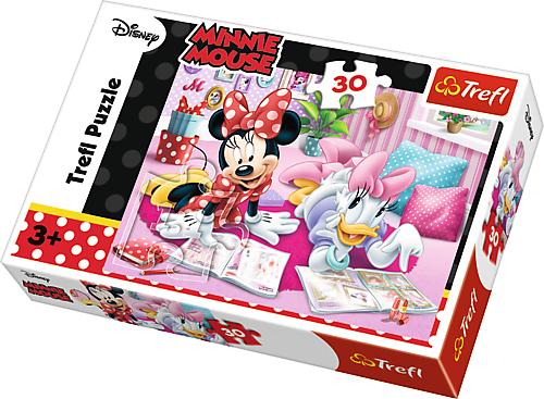 TREFL Puzzle 30 el. Myszka Minnie, Najlepsze przyjaciółki (18217)