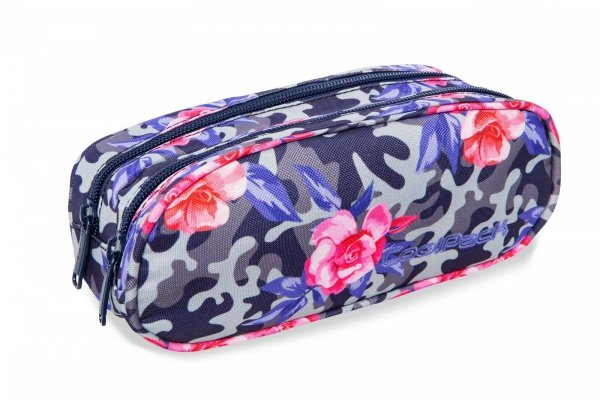 Piórnik CoolPack CLEVER kwiaty w moro CAMO ROSES (96720)