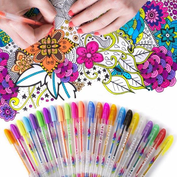 KIDEA Długopisy żelowe 24 kolory (DZ24KA)