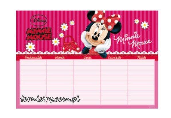 Plan lekcji Myszka Minnie, licencja Disney (PLNMM)