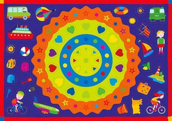 Kolorowanka z naklejkami WAKACYJNE ZAGADKI 3+ (43317)