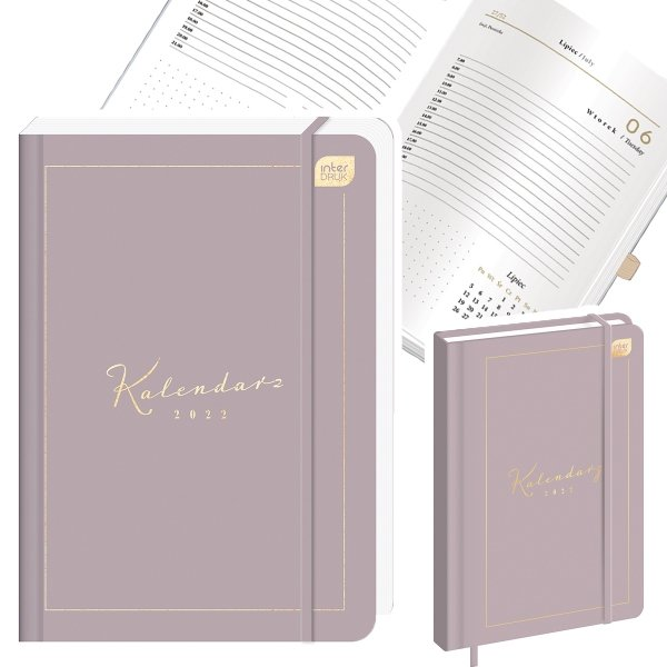 Kalendarz książkowy A5 NUDE 384 strony 2022 (00249)
