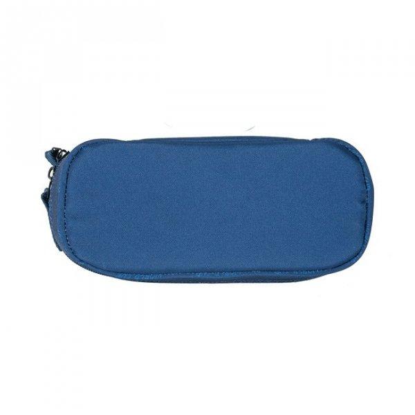 Piórnik tuba saszetka DARK BLUE, niebieski w piłki PASO (17013UN)