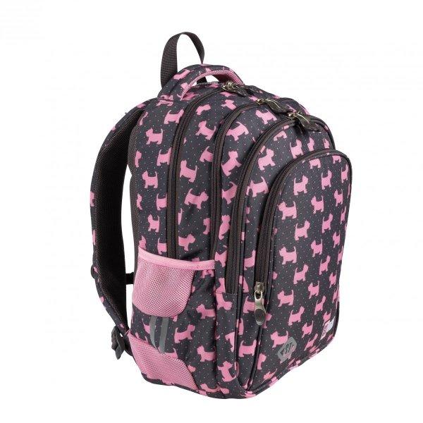 ZESTAW 3 el. Plecak wczesnoszkolny ST.RIGHT w psiaki, DOGGIES BP58 (25633SET3CZ)