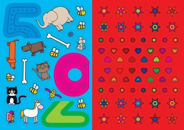 Kolorowanka z naklejkami ZABAWY Z CYFERKAMI OD JEDNEGO DO DZIESIĘCIU 3+ (43348)