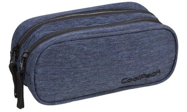 Piórnik CoolPack CLEVER dwukomorowy saszetka niebieski, SNOW BLUE/ SILVER (88602CP)