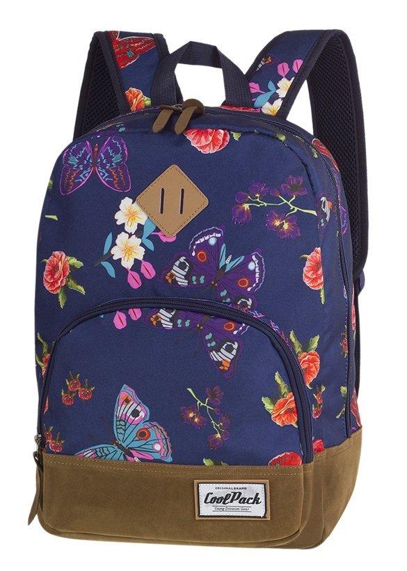805b47e7261f3 Plecak CoolPack CLASSIC miejski młodzieżowy niebieski w motyle, SUMMER  DREAM (12454CP)