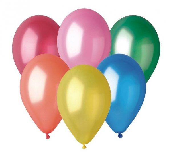 Balony różnokolorowe METALIC GM90 10 sztuk, Gemar (GM90/82)