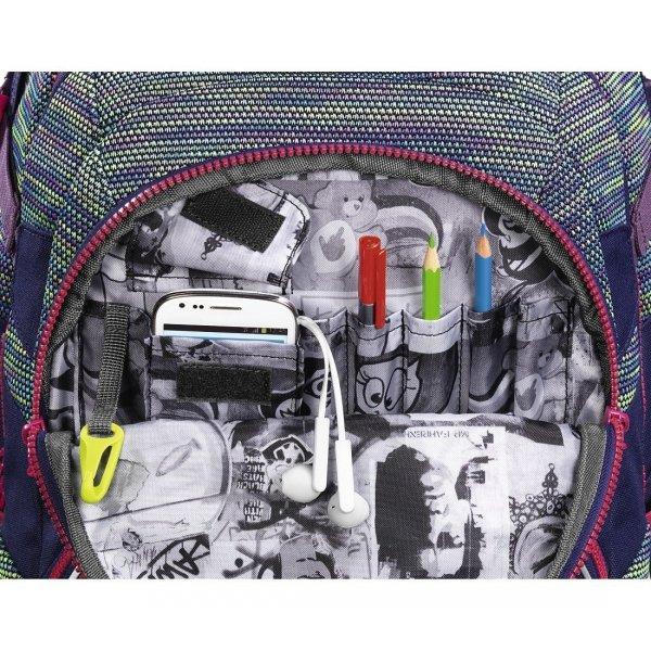 ZESTAW Plecak szkolny Coocazoo JobJobber 2 Wildberry Knit + Piórnik (139266SET)