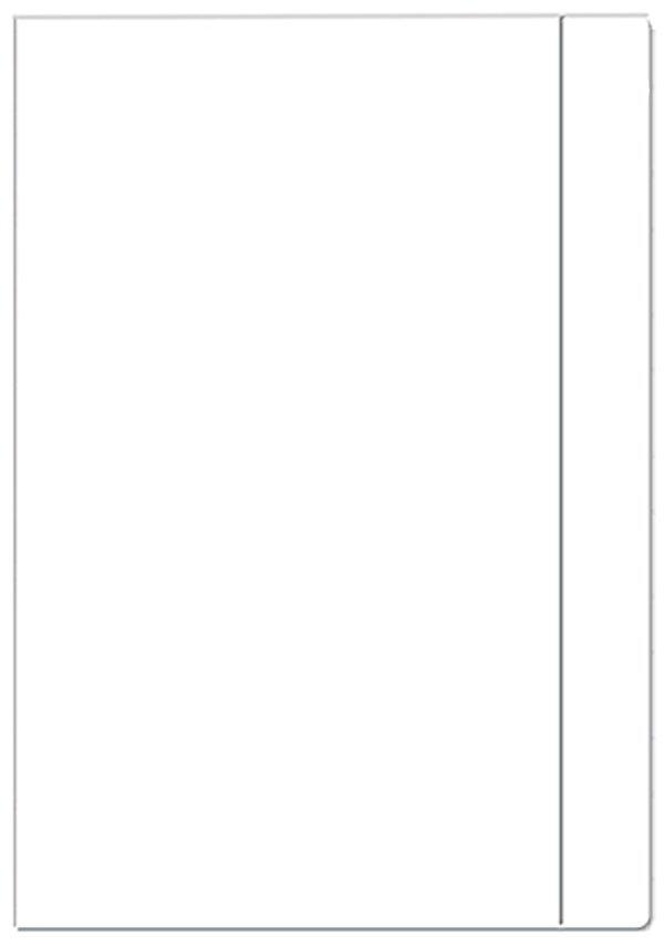 Teczka rysunkowa A4 Z GUMKĄ BIAŁA (77599)