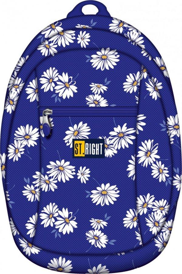 Plecak młodzieżowy, wycieczkowy ST.RIGHT granatowy w białe kwiaty DAISIES BP09 (11964)