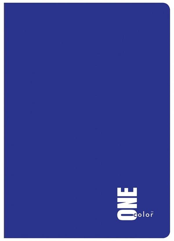 Zeszyt A5 96 kartek w kratkę ONE COLOR Niebieski (47438)