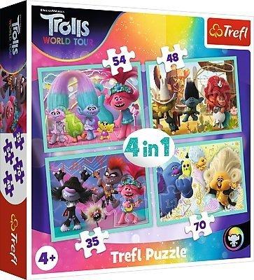 TREFL Puzzle 4 w 1 TROLLE Trasa koncertowa Troli (34336)