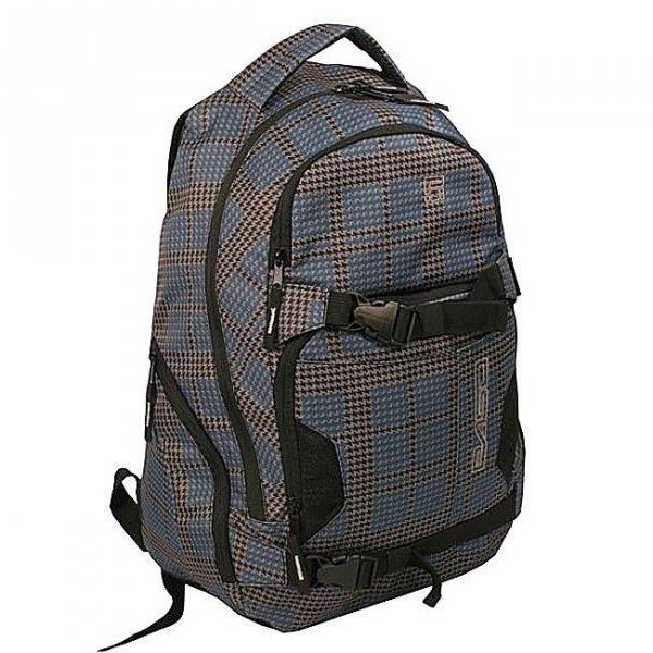 Plecak młodzieżowy, miejski szary w pepitkę (83174)