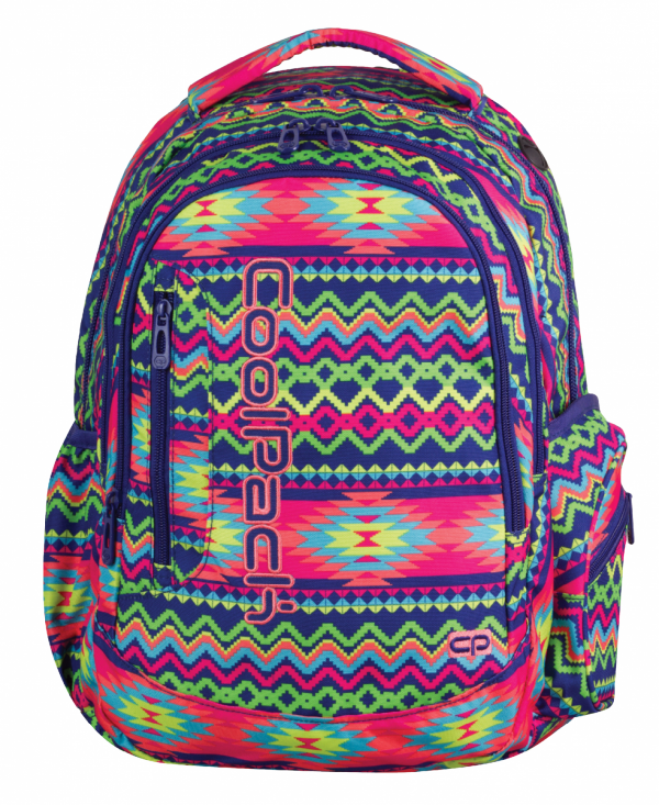 Plecak CoolPack LEADER 2 w kolorowe zygzaki, BOHO ELECTRA 780 (74230)