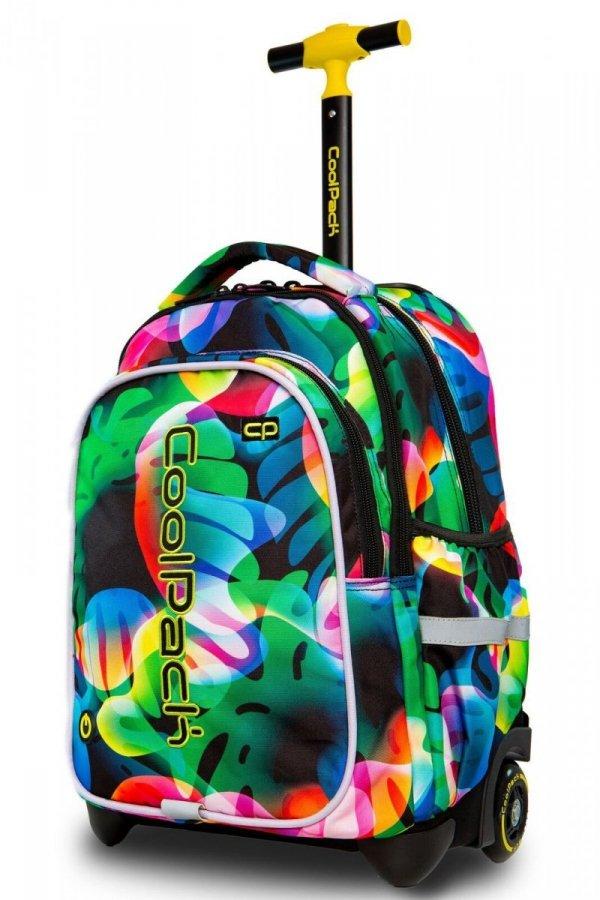 Plecak CoolPack LED JUNIOR na kółkach w kolorowe smugi RAINBOW LEAVES (96799)