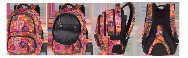 Plecak CoolPack SPINER eksplozja kolorów, FLOWER EXPLOSION z pomponem (86490CP)