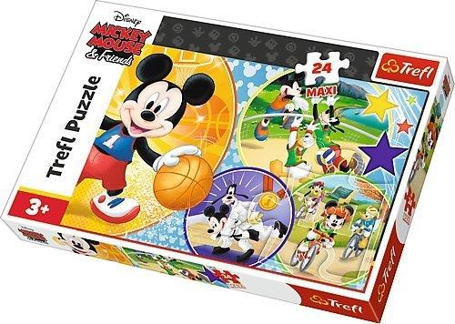 TREFL Puzzle MAXI 24 el. Czas na sport, Myszka Mickey (14291)