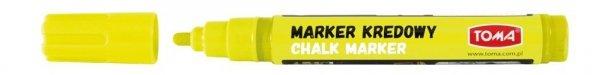 MARKER kredowy zmywalny TOMA, żółty (TO-292)