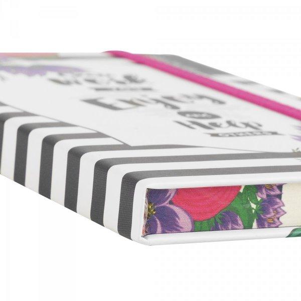 Notes na gumkę A6 STRIPES różowy (925013)