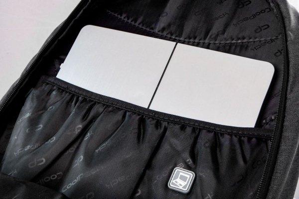 Plecak CoolPack HIPPIE dżinsowy w błyszczące naszywki SPARKLING BADGES JEANS (22523)