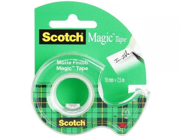 Taśma klejąca matowa MAGIC z dyspenserem 3M Scotch (59308)