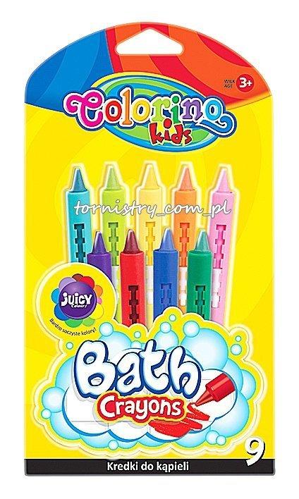 Kredki do kąpieli 9 kolorów COLORINO (38973)