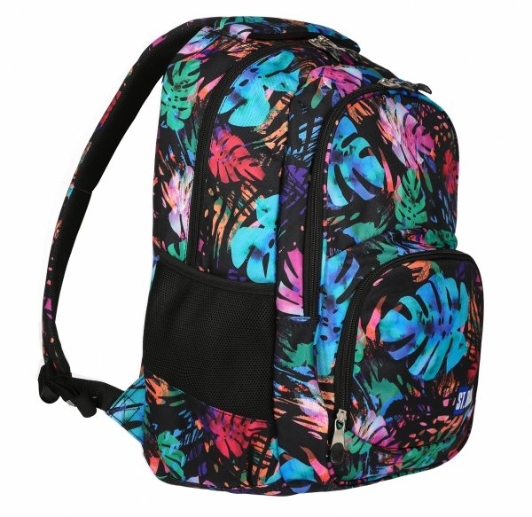 Plecak szkolny młodzieżowy ST.RIGHT w egzotyczny ogród, EXOTIC GARDEN BP23 (22908)