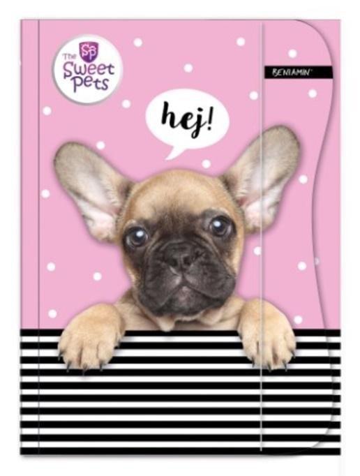 Zeszyt A5 w kratkę 16 kartek The Sweet Pets PIESEK (94944)