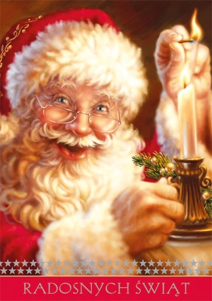 Kartka świąteczna BOŻE NARODZENIE 12 x 17 cm + koperta (28106)