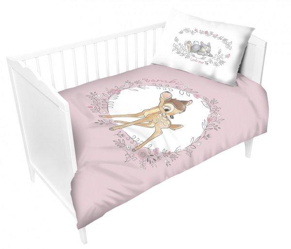 Komplet pościeli pościel Bambi RÓŻOWA 100X135 (BAMBI01B)