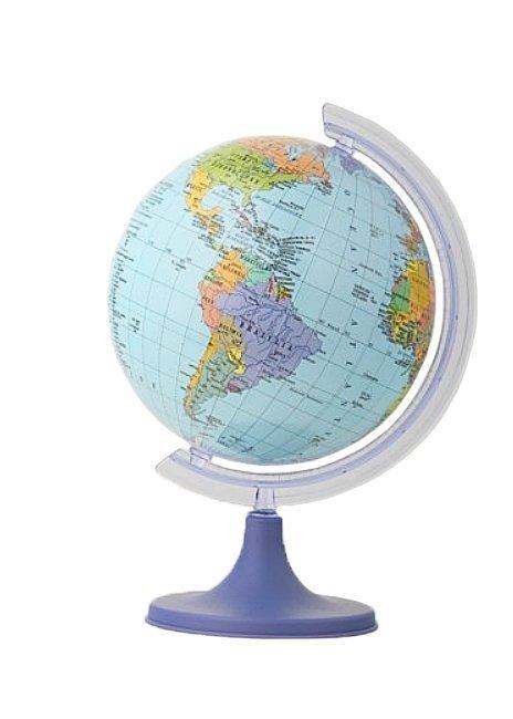Globus polityczny 110 mm mapa polityczna (1413)