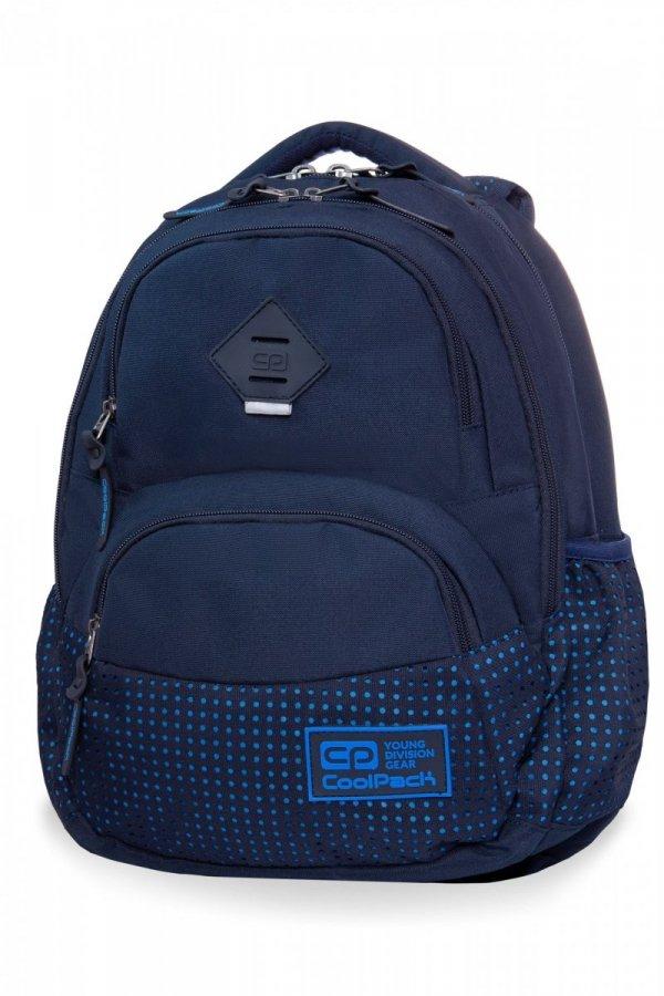 Plecak CoolPack DART 2 granatowy w niebieskie kropki, DOTS BLUE / NAVY (B30062)