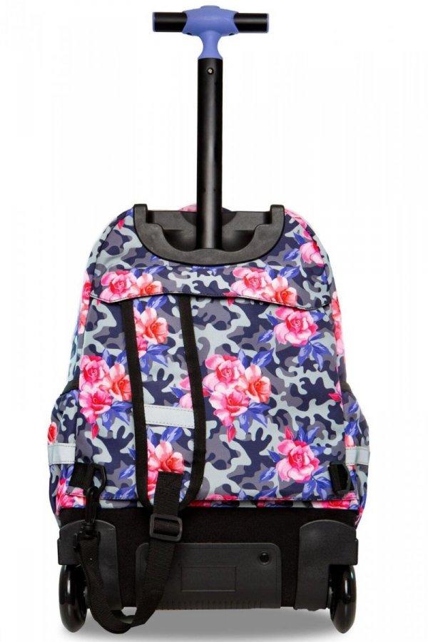 Plecak CoolPack LED JUNIOR na kółkach kwiaty w moro CAMO ROSES (96676)