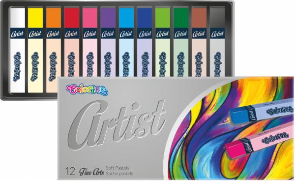 Pastele suche 12 kolorów COLORINO ARTIST (65238PTR)