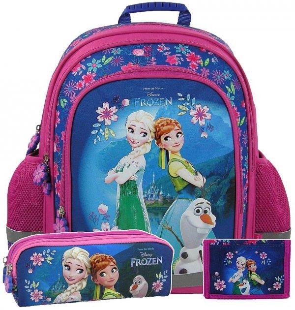 ZESTAW 3 el. Plecak szkolny FROZEN KRAINA LODU, licencja Disney (PL15KL20)