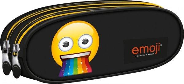 Piórnik dwukomorowy ST.RIGHT czarny Emoji Rainbow EMOTIKONY PU2 (42595)