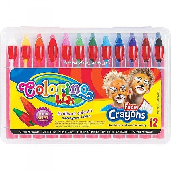 Kredki do malowania twarzy 12 kolorów COLORINO (32650)