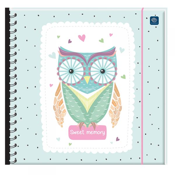 Pamiętnik na gumkę SOWA z sową (03595)