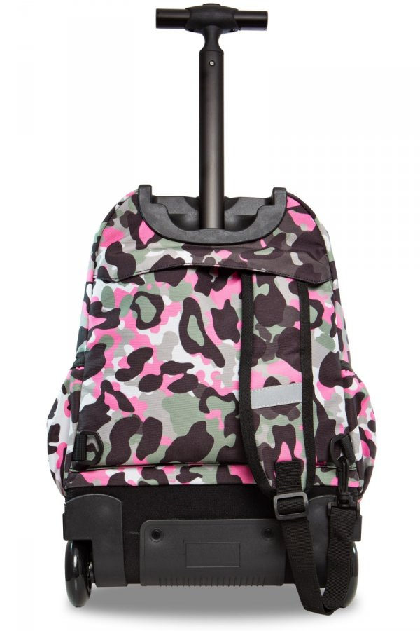 Plecak CoolPack JUNIOR na kółkach różowe moro w znaczki CAMO PINK BADGES (24046)