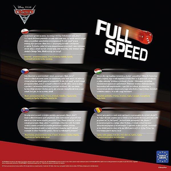 Gra planszowa FULL SPEED, Cars Auta Trefl (01489)