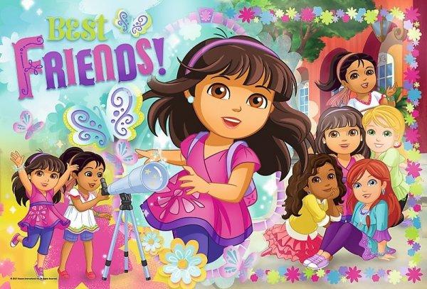 TREFL Puzzle 100 el. Dora i przyjaciele, Przygoda czeka (16311)
